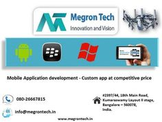 Whether it's an app for business, social media, E-commerce app or event app or financial related or any of your requirement. We at Megron Tech design, develop and integrate mobile apps to achieve your goal. We specialize in Android, iOS and Windows platforms and have development centers in UK and India. With our creative approach and development experience we ensure that mobile apps are engaging and seamless user experience.