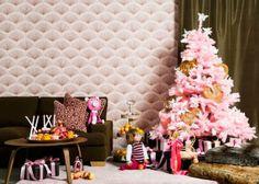 Papel de parede + árvore de natal