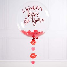 Personalised Valentines Day Bubble Balloon