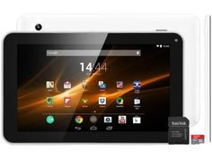 "Tablet Multilaser M9 8GB Tela 9"" Wi-Fi - Android 4.4 Proc. Quad Core Câm. 2MP + Cartão 8GB"