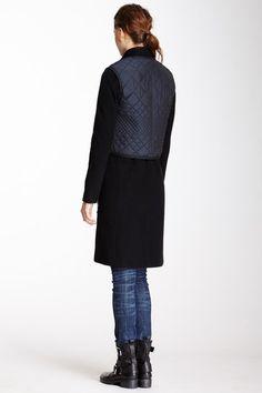 Gryphon Wool Blend Coat with Detachable Vest