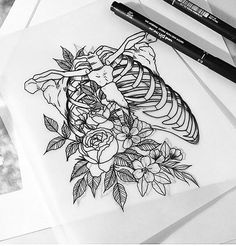 Artist: To submit your work to the page use the tag do not forget to share the page! Kritzelei Tattoo, Piercing Tattoo, Body Art Tattoos, Cool Tattoos, Piercings, Tatoos, Cool Art Drawings, Pencil Art Drawings, Art Drawings Sketches