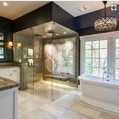 home_decor - 29 Exquisite Stone Bathroom Design Bathroom Design Luxury, Bathroom Interior, Bathroom Ideas, Bathroom Designs, Bathroom Organization, Bathroom Remodeling, Remodeling Ideas, Remodel Bathroom, Bath Ideas
