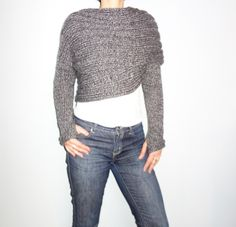 This modern, trendy and versatile chunky wrap around shrug is a quick and easy project. It looks great either with a casual outfit or with a sexy pair of jeans. It is warm and comfortable, the perfect accessory for any occasion, convertible into a winter scarf. Knit this for yourself or as a gift for your loved one! Unique designs for unique women!Level: beginner, basic knit stitches required. Easy to read written form pattern. Size: Adult XS, S, M, L, XL Materials: - needles size 7mm…