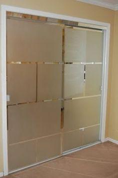 Sliding Mirror Closet Doors Makeover before & after: mirrored closet door makeover | design*sponge