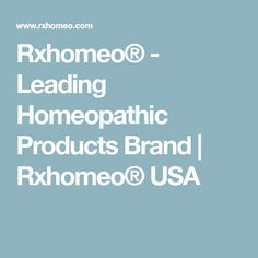 Rxhomeo® - Leading Homeopathic Products Brand | Rxhomeo® USA