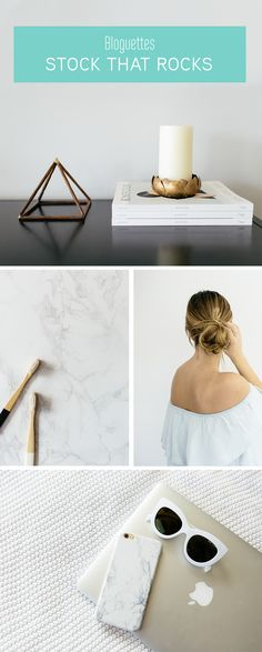 Bloguettes Stock That Rocks - A collection of beautiful, minimal stock photos. The perfect styled photography for creating images for your brand's social media, email marketing, graphics, and more!