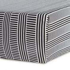 Sweet and sophisticated, the Black and White Crib Bedding Collection from Oilo Studio surrounds your little one with serenity and style, right from the start. The Jersey Fitted Crib Sheet is made of soft cotton and is fully elasticized for a secure fit. White Crib Bedding, Modern Baby Bedding, Bedding Sets, Modern Crib, Nursery Crib, White Nursery, Sofa Bed Set, Modern Baby Furniture, Black Crib