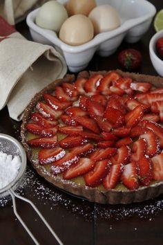 Strawberry and Ricotta Tart | bell' alimento #Strawberry  #Ricotta #Tart