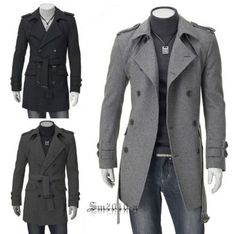 Mens Jackets Coats Fashion Casual Designer Fitted Long Winter Trench Mens Jackets