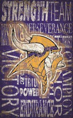 8c60b1bb4 Minnesota Vikings Heritage Word Collage 11x19  sportsmemes Viking Signs