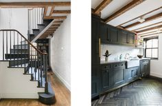 WARREN MEWS TOWNHOUSE - ensemble architecture, dpc dark with white counters and sink