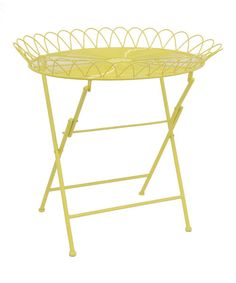 Look what I found on #zulily! Yellow Serving Tray Table by Three Hands Corporation #zulilyfinds