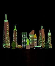 City Skyline Glow Blocks by wonderworld | My Brooklyn Baby #NYC