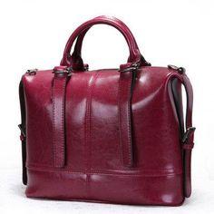 Shoulder Bags Luggage & Bags Qualified Women Novelty Brown Genuine Leather Tote Handbag Female Vintage Real Cowhide One Shoulder Bag Soft Causal Crossbody Bag