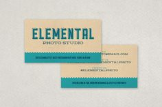 Vintage screen print business card featuring offset type and subtle texture. Customizable template available from Inkd