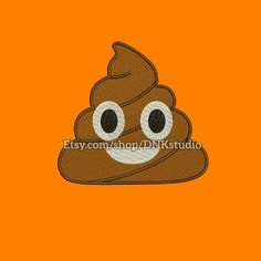 Poop Emoji Emoticon Machine Embroidery Design  This design manually made by hand, from start to finish. It is a digitized embroidery design for a buyer who has an embroidery sewing machine.  https://www.etsy.com/listing/492846375/poop-emoji-emoticon-machine-embroidery  #stitch #digitized #Sewing #Needlecraft #stitches #Embroidery #Applique #EmbroideryDesign #pattern #MachineEmbroidery #Heart #Eyes #Emoji #Emoticon #poop
