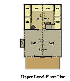 16 X 24 Floor Plan Adirondack Cabin Plans 16x24 with