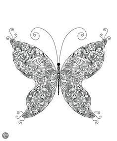Mindful kleuren voor volwassenen - mindful coloring - bol.com - butterfly