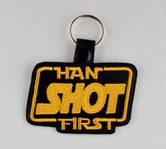 Han shot first snap tab key fob ITH machine embroidery design – String Theory Fabric Art The Design Files, All Design, Embroidery Files, Machine Embroidery Designs, Han Shot First, Tab Key, String Theory, Thing 1, Teaching Biology