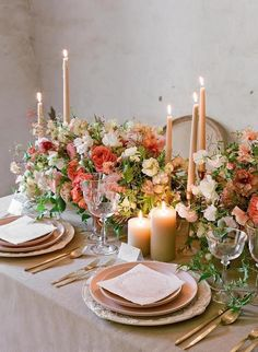 Gorgeous fall tables