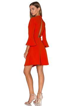 Lucy Paris Bell Sleeve Dress in Orange $70