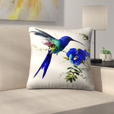 East Urban Home Decorative pillow designed by Suren Nersisyan for East Urban Home exclusive collection of decorative throw pillows. Yellow Pillows, Floral Throw Pillows, Throw Pillow Sets, Outdoor Throw Pillows, Decorative Throw Pillows, Couch Cushion Covers, Pillow Room, Spring Painting, Painted Clothes