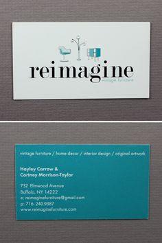 Elegant art deco fashion business card business card templates reimagine vintage furniture hayley carrow cortney morrison taylor reimaginefurniture reheart Images