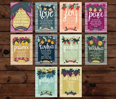The Fruit of the Spirit Wall Cards by FrenchPressMornings on Etsy