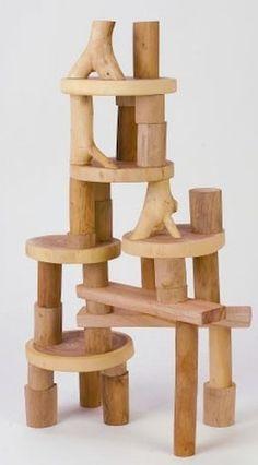 Bloques naturales de madera