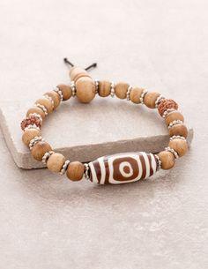 3-Eyed Tibetan Bracelet of Luck #men #women