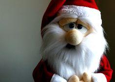 Santa Claus Handmade Professional Puppet - Muppet Style Rod Puppet