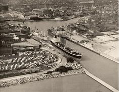 Old Kenosha Harbor - back in the day when ships arrived from all over the world.