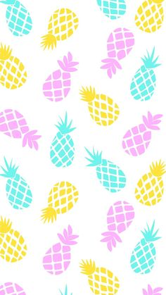 Pineapple Pattern Wallpaper