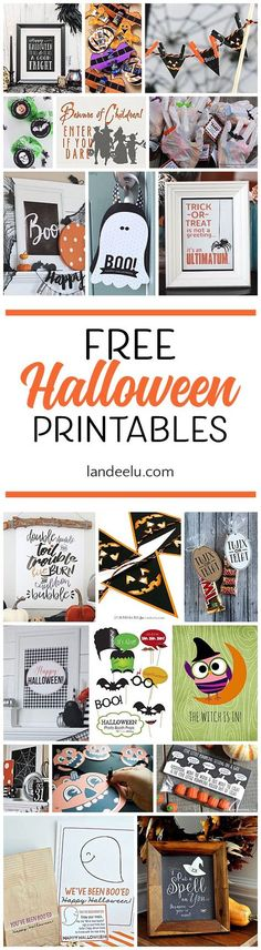 Darling free Halloween printables to make your Halloween decor spooktacular! #halloween #halloweenprintables
