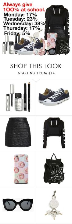 """""""Untitled #1321"""" by grandmasfood ❤ liked on Polyvore featuring Bobbi Brown Cosmetics, Charli, Converse, Topshop, CÉLINE, Alexander Wang, women's clothing, women, female and woman"""
