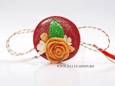 Martisor | Brosa martisorunicat buchet de flori trandafir  si flori albe | Ellys Shop magazin online bijuterii si accesorii Iasi Accessories, Shopping, Fimo, Jewelry Accessories