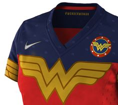 Some football jerseys for super heroes. Wonder Woman Shirt, Leather Jacket With Hood, Football Jerseys, Hooded Jacket, Superhero, Sweatshirts, Sweaters, Jackets, Behance