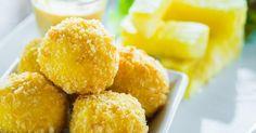 Recette de Beignets de fromage de chèvre allégés sans friture pour utiliser un jaune d'oeuf. Facile et rapide à réaliser, goûteuse et diététique.