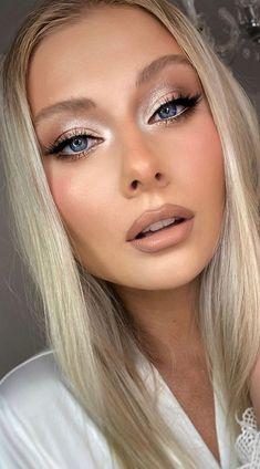 Wedding Makeup For Blue Eyes, Beach Wedding Makeup, Natural Prom Makeup, Bridal Makeup Looks, Bridal Hair And Makeup, Wedding Hair And Makeup, Bridal Makeup For Blondes, Day Makeup Looks, Makeup For Redheads