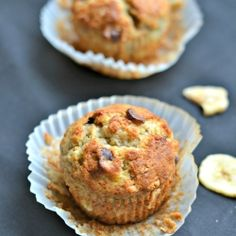 Banana peanut butter chip muffins