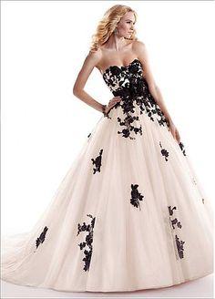Amazing Stylish Tulle & Satin Ball Gown Sweetheart Neckline Raised Waist Wedding Dress
