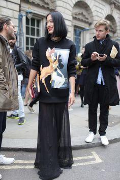 London Fashion Week street style 2013 WWD