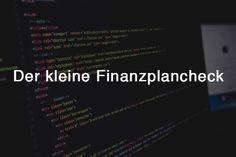Der kleine Finanzplancheck [Tool]
