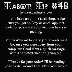 https://www.etsy.com/shop/MinervaTarot. Tarot tip