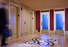 Elevator landing at the Dallas Renaissance Hotel #dallashotels #renhotels