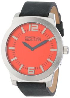 The Latest: Kenneth Cole REACTION Unisex RK1284 Street Collection Red Dial Watch  –  Patek Phillippe