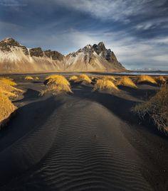 Black sand dunes, Stokksnes, Iceland.