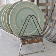 Shop all your favorite farmhouse and industrial decor! We try our best to source and offer the very best decor at the most reasonable prices. Farmhouse Design, Farmhouse Decor, Antique Booth Ideas, Magnolia Table, Metal Rack, Plate Racks, Home Additions, Kitchen Decor, Kitchen Ideas