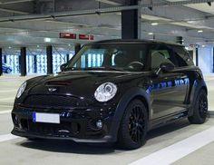 Mini Cooper, Black on Black, Bumper Cover Intake, Frame Rail Cover, Kick Plate, Door sill Cover, Rocker Pannel Cover